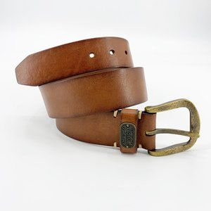 Fossil Brown Antiqued Genuine Leather Waist Belt